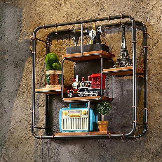 Mensole da muro Scaffali di mostra creativi della struttura del ferro del tubo dell'acqua della libreria della mobilia del retro dello stagno (61cm * 16cm * 61cm) Book librerie