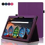 ACdream Lenovo Tab 2 A10 & Lenovo Tab3 10 Business Case, Folio Leather Cover Case for Lenovo Tab2 A10-70/Tab2 A10-30/TAB-X103F Tab 10/Tab3 10 Business Tablet, Dark Purple
