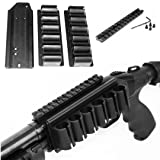 Trinity Mossberg 500 Picatinny Scope Mount W/12 Ga Side Saddle Shell Holders & Plate. (Color: BLACK)