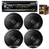 Pioneer Electronics DEH-S5100BT Single-Din in-Dash CD Player Bluetooth Receiver w/ (4) TS-G1620F 6.5