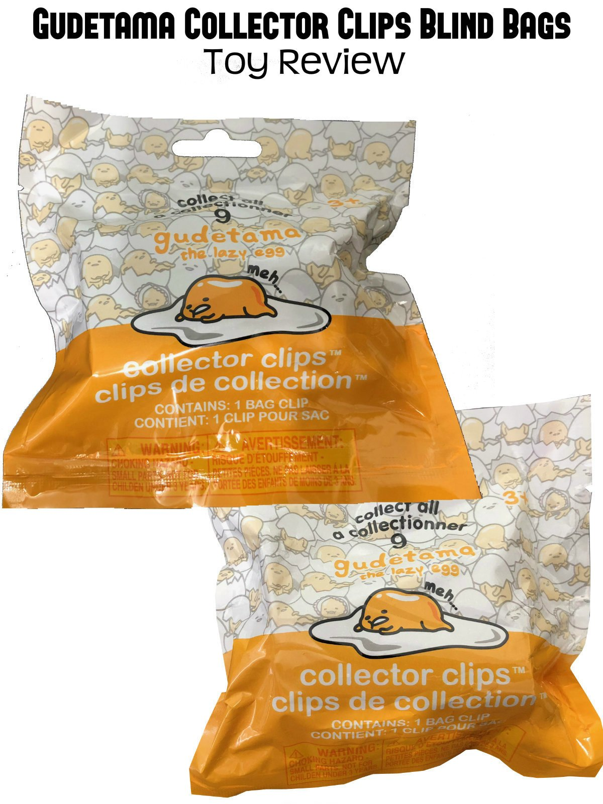 Review: Gudetama Collector Clips Blind Bags Toy Review