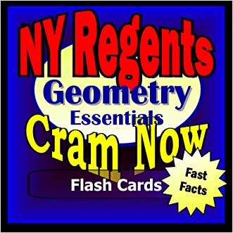 NY Regents Prep Test GEOMETRY Flash Cards--CRAM NOW!--Regents Exam Review Book & Study Guide (NY Regents Cram Now! 6)
