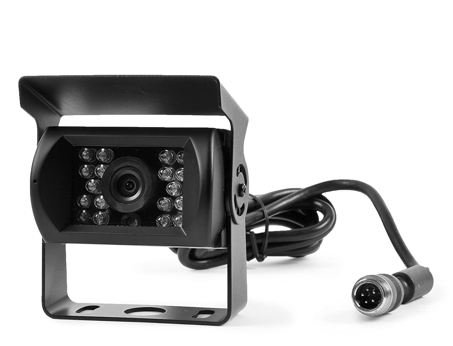 Rear View 130° CCD Back Up Camera with 18 Built in Infra-reds for Rv's, Trucks, & Trailers - Built-in Microphone to Hear Surroundings