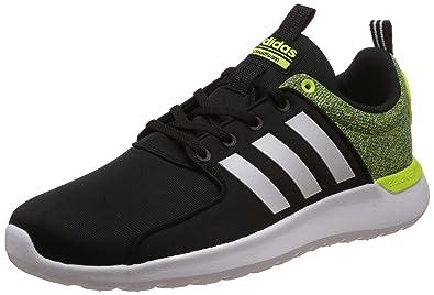 adidas neo Men's Cloudfoam Lite Racer Cblack, Ftwwht and Syello Sneakers 11 UK