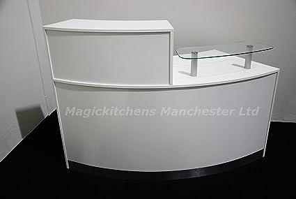 Reception Desk in White Matt /Ref:0409