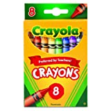 Crayola 523008 Classic Color Crayons, Peggable Retail Pack, Peggable Retail Pack, 8 Colors (Color: Multicolor, Tamaño: Value not found)