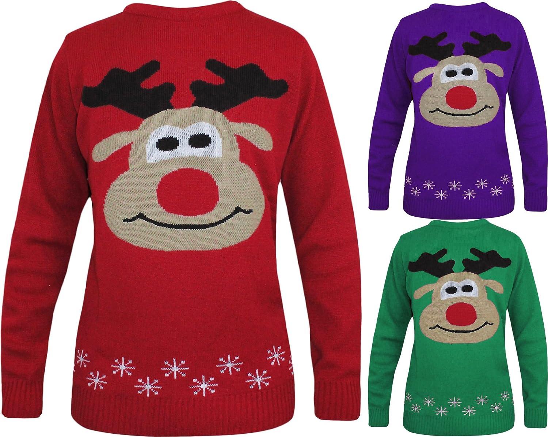 Cute Reindeer Knitted Christmas Jumper