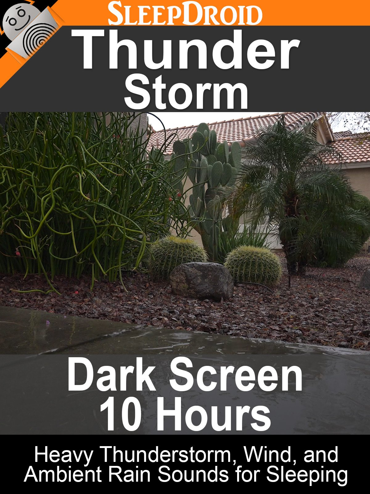 Thunder Storm: Dark Screen 10 Hours Heavy Thunderstorm, Wind, and Ambient Rain Sounds for Sleeping on Amazon Prime Instant Video UK