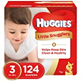 Huggies Little Snugglers Baby Diapers, Size 3, 124 Count, GIANT PACK  (Packaging May Vary) (Tamaño: