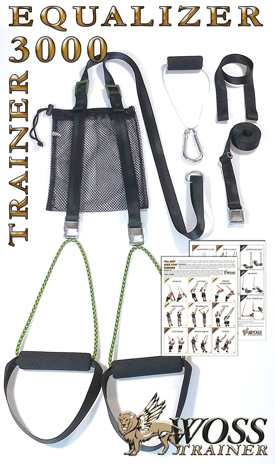 WOSS Enterprises WOSS Suspension Trainer, Black, (3000 Series) - Made In USA, Sold by WOSS Enterprises to All USA States at Sears.com