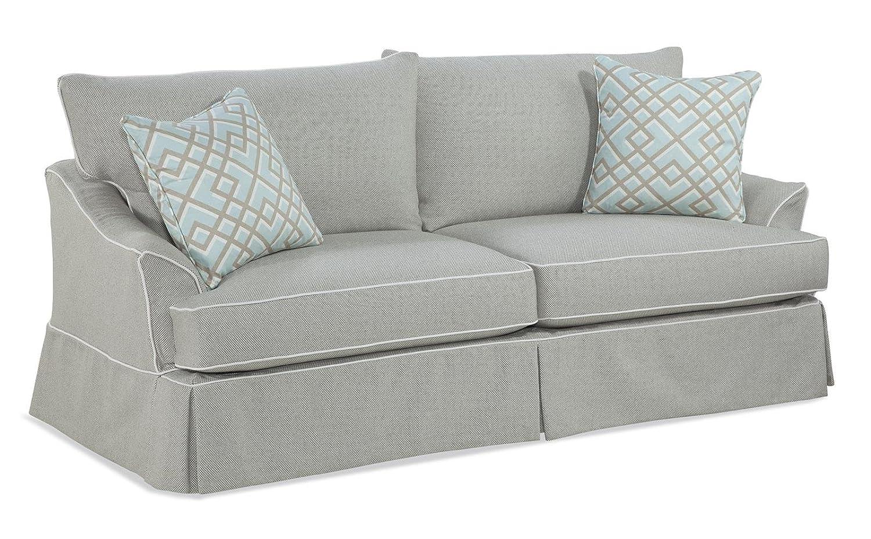 Chelsea Home Furniture Olivia Sofa - Newport Oatmeal with welt Newport Flour