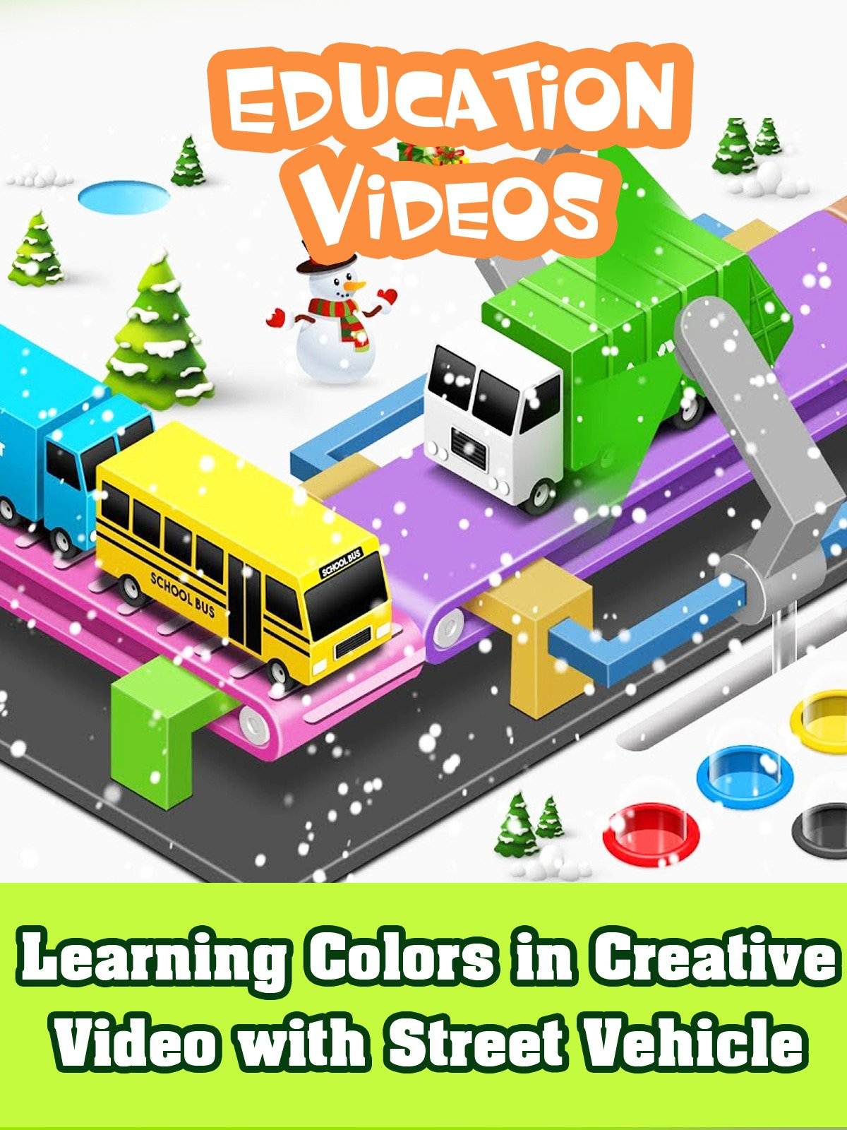 Learning Colors in Creative Video with Street Vehicle