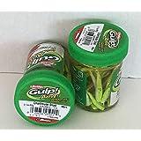 GULP Bait 1 INCH CHARTREUSE SHAD MINNOW 2 jar bundle BERKLEY gulp Alive perch minnows ice fishing bait Panfish minnows (Color: Chartreuse)
