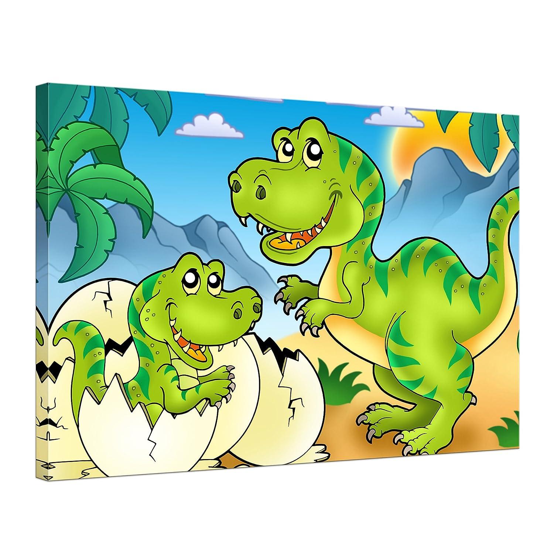 "Bilderdepot24 Leinwandbild ""Dino Tyrannosaurus Rex"" – 70×50 cm 1 teilig – fertig gerahmt, direkt vom Hersteller günstig"