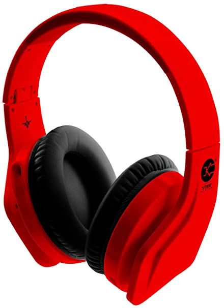 Vibe FLI Casque Audio avec Micro Intégré - Rouge