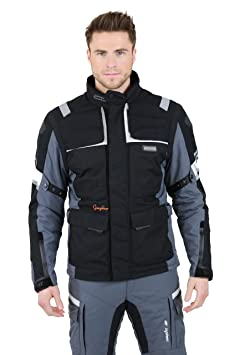 NERVE 15111514039_03 G-Drive Blouson Moto Touring Textile , Gris/Noir, Taille : M