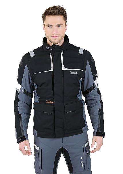 NERVE 15111514039_04 G-Drive Blouson Moto Touring Textile , Gris/Noir, Taille : L