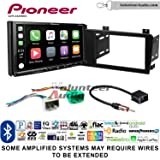 Volunteer Audio Pioneer AVH-2440NEX Double Din Radio Install Kit with Apple CarPlay, Android Auto and Bluetooth Fits 2005-2007 Volvo S60, V70, XC70