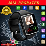 Bluetooth Smart Watch Touchscreen with Camera, Watch Cell Phone with Sim Card Slot,Smart Wrist Watch,Waterproof Smartwatch Phone for Android Samsung IOS Iphone 7 6S Men Women Kids (Color: BLACK)