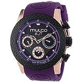 MULCO Unisex MW5-1962-087 Analog Chronograph Swiss Watch (Color: Purple/Black, Tamaño: Standard)