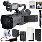 JVC GY-HM170U Ultra 4K HD 4KCAM Professional Camcorder & Top Handle Audio Unit with XLR Microphone + SlingStudio Hub Unit & CameraLink + Battery & Charger + Kit (Color: Black, Tamaño: CameraLink Kit)