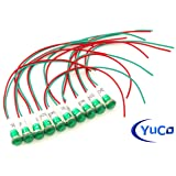 10 YC-9WRT-23G-120-10 YuCo CE LISTED 9MM COMPACT PANEL MOUNT INDICATOR LED PILOT LIGHT GREEN 120V AC/DC