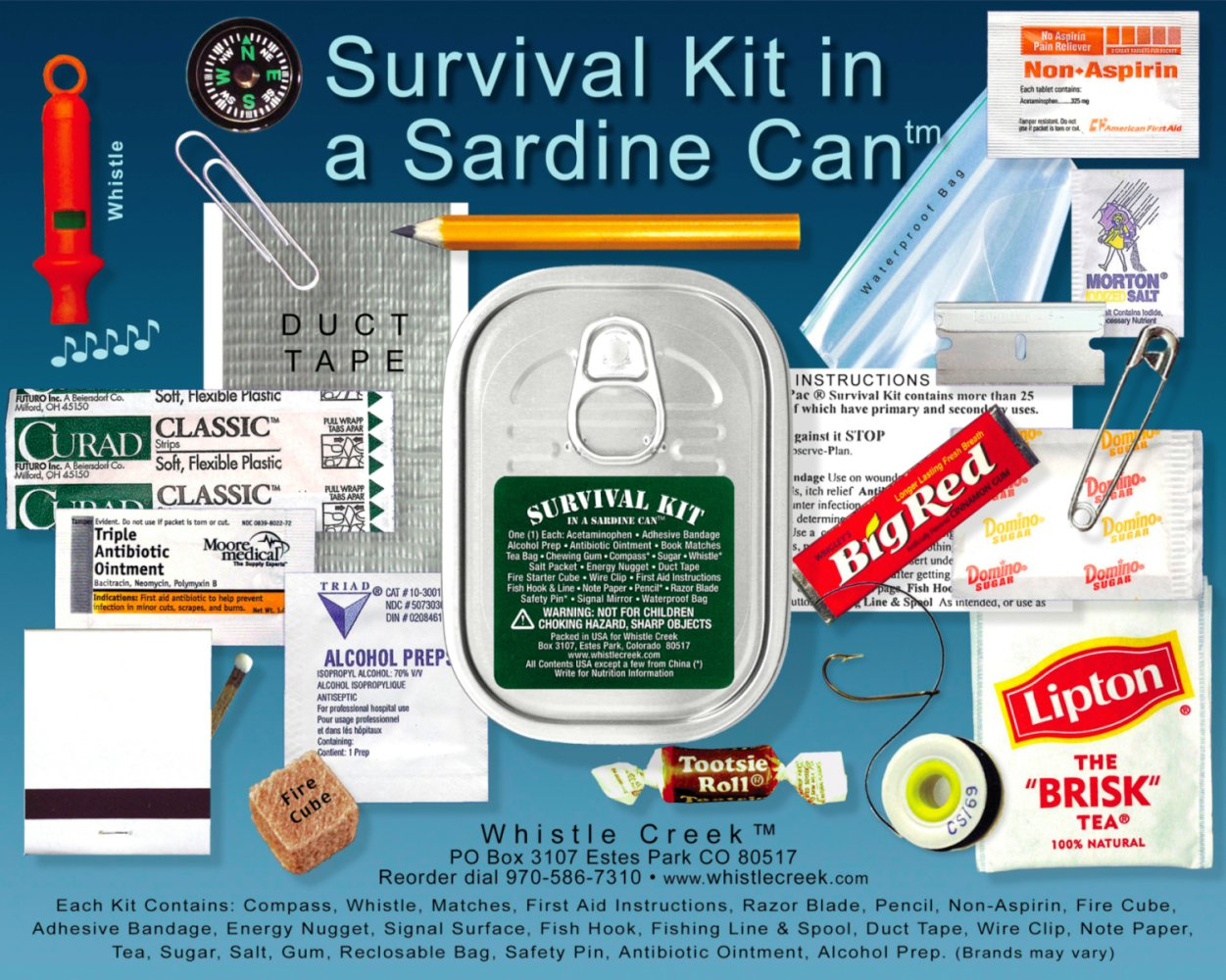 Emergency Survival Kit in a Sardine Can