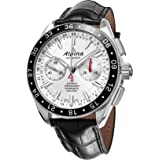 Alpina Alpiner 4 Chronograph Automatic GMT Mens Strap Watch Silver dial AL-860S5AQ6