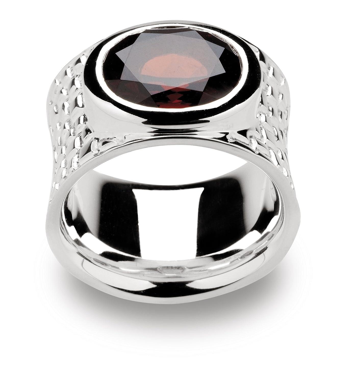 Bastian Inverun Damen-Ring Granat 925-er Sterlingsilber Gehämmert Poliert 9626 Gr. 56 als Weihnachtsgeschenk kaufen