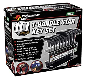 Performance Tool W80276 T-Handle Star Set, 10-Piece (Tamaño: Star T-Handle Set, 10-Piece)