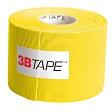 "3B Scientific 1012803 Yellow Cotton Rayon Fiber Kinesiology Tape, 16' Length x 2"" Width"