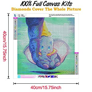 Diamond Painting Kits for Adults, DIY 5D Round Full Dril Diamond Art,Perfect for Relaxation and Home Wall Decor (Color: Elephant, Tamaño: 16x16inch)