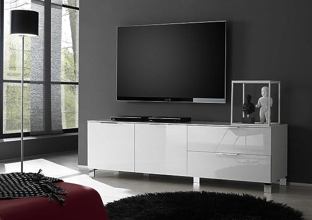 Lowboard sola con 2ante, 180x 53x 44,50cm, Bianco Lucido