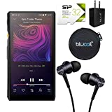 FiiO M11 HiFi Lossless Music Player with Bluetooth 4.2 Connectivity Bundle with 1MORE Piston Fit E1009 Earphones, Silicon Power 32GB Class 10 MicroSD Card, Blucoil USB Charger, and Earbud Case