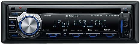 Kenwood KDC-4547UB Autoradio CD mp3/wma/AAC/USB avec contrôle iPod Tuner FM 4 x 50W
