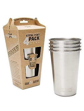 Klean Kanteen Pint Cup - - 473ml, 4er Pack gris vaisselle ... 67fe55ce528