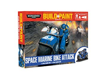 Warhammer 40'000 - 00082 - Maquettes de Figurines - Space Marine Bike Attack