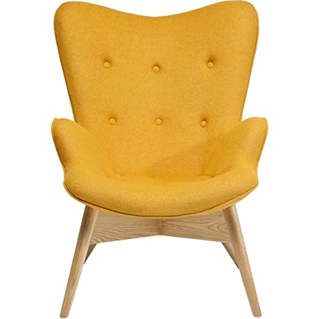 Fauteuil Retro Angels Wings jaune eco Kare Design