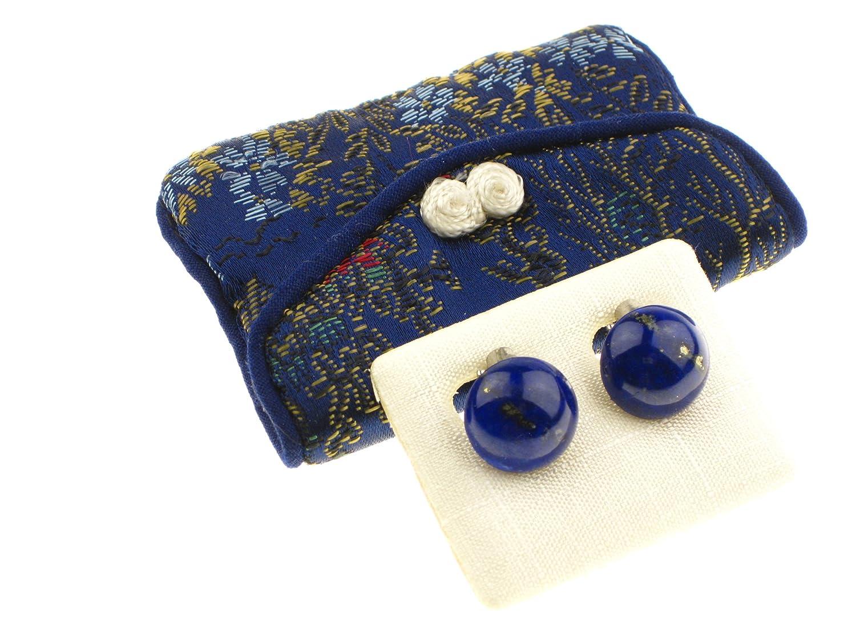 """c-c Damen – Ohrclip Edelstein """"Lapis Lazuli"""" blau, Cab. 13,5mm Durchmesser – Silber925 bestellen"""