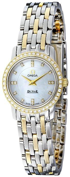 Omega Women's 4375.75 White Mother-Of-Pearl Dial DeVille Prestige Watch