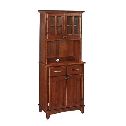 Home Styles 5001-0072-72 Buffet of Buffet 5001 Series Medium Cherry Wood Top Buffet Server and Hutch, Medium Cherry, 29-1/4-Inch