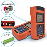 SPEEDWOLF Portable FTTH Fiber Optical Power Meter (-50dBm~+26dBm),Handlend Optic Fiber Cable Tester Tool with 30mW 30KM VFL and SC+FC Adapter for CCTV CATV Engineering Maintenance (Color: Power Meter(PMV563), Tamaño: 170*85*31MM/6.7*3.3*1.2inch)