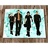 FINAL FANTASY 15 XV Watercolour Art Print Poster Wall Decor - Noctis - Gladio - Prompto - Ignis - Stand By Me