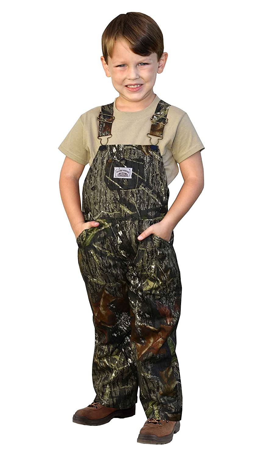Round House Little Boys Mossy Oak Camo Bib Overalls - Made in USA little house in bakah 3 иерусалим