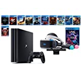 PlayStation VR Deluxe Collection Bundle (14 Items): VR Starter Bundle, PS4 Pro 1TB,12 VR Game Disc: Rush of Blood,Valkyrie,Battlezone,Batman,DriveClub,Eagle, RIGS,Resident Evil 7:Biohazard and more