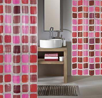 kleinewolke4956453305sonny rideaurideaudedoucherouge 200x180x0 09cm cuisine maison ee292. Black Bedroom Furniture Sets. Home Design Ideas