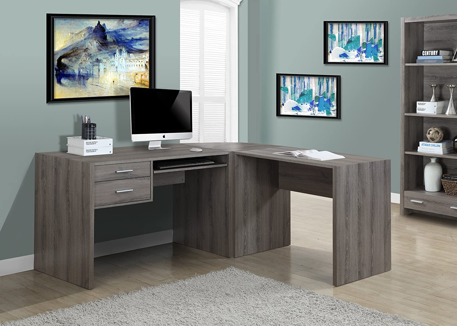 Dark Taupe Reclaimed-Look Corner Wedge Only ( 7090/7091 ) taupe