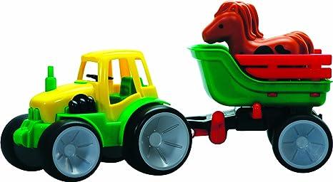 Gowi - 561-07 - Jouet D'éveil - Tracteur Transport Chevaux