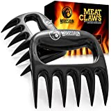 Mountain Grillers Bear Claws Meat Shredder for BBQ - Perfectly Shredded Meat, These are The Meat Claws You Need - Best Pulled Pork Shredder Claw x 2 for Barbecue, Smoker, Grill (Black) (Color: Black, Tamaño: 7+306)