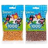 Perler Bead Bag 1000, Bundle of Honey and Gingerbread (2 Pack) (Color: Honey & Gingerbread)